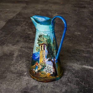 Large French Hand-Painted Jug