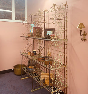 Original Antique French bakers rack from Paris