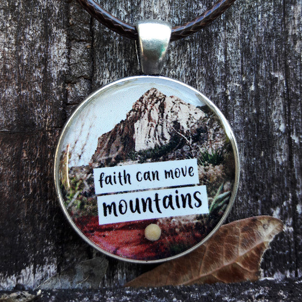 Faith Can Move Mountains Pendant - Happiness in Your Life