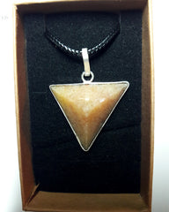 Peach Quartz Pyramid Pendant