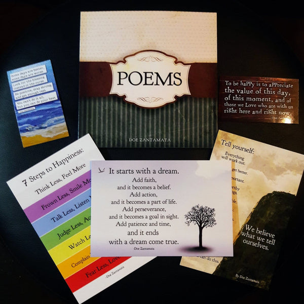 """Well Wishes"" Poems Book Gift Set - By Doe Zantamata"
