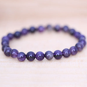 Amethyst Natural Stones Insight and Serenity Bracelet