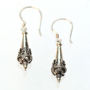 Sterling Silver Ancient Cone Earrings