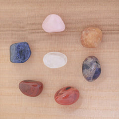 Chakra 7 Natural Tumbled Gemstones Meditation Set