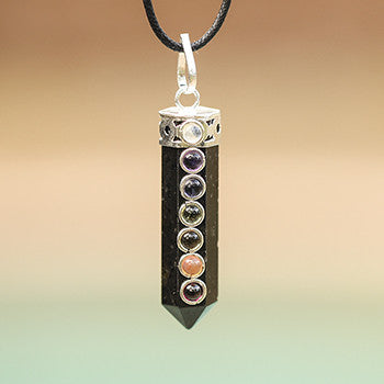 Chakra Positive Protection Black Tourmaline Point Pendant