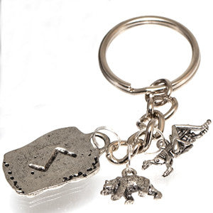 Pewter  Self Confidence Charm Keychain