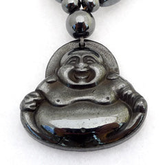 Laughing Buddha Magnetic Hematite Pendant and Necklace