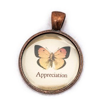 Appreciation Pendant and Necklace - Copper Tone - Happiness in Your Life