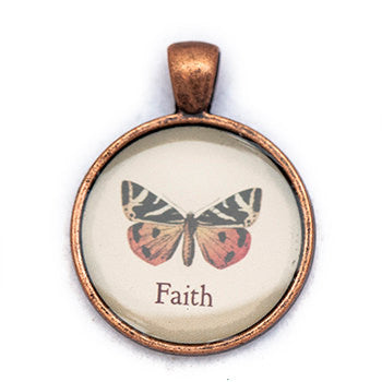 Faith Pendant and Necklace - Copper Tone - Happiness in Your Life