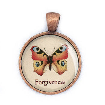 Forgiveness Pendant and Necklace - Copper Tone - Happiness in Your Life