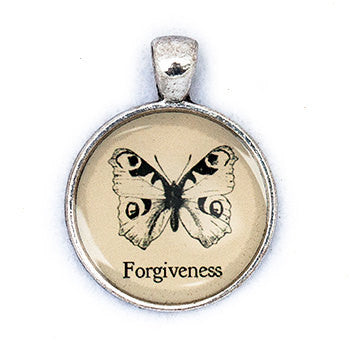 Forgiveness Pendant and Necklace - Silver Tone - Happiness in Your Life