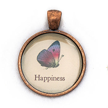 Happiness Pendant and Necklace - Copper Tone - Happiness in Your Life
