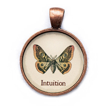 Intuition Pendant and Necklace - Copper Tone - Happiness in Your Life
