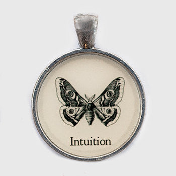 Intuition Pendant and Necklace - Silver Tone - Happiness in Your Life