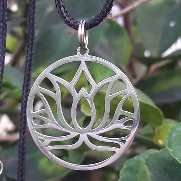 Lotus Pendant - Stainless Steel