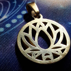 Lotus Pendant - Stainless Steel Gold Toned