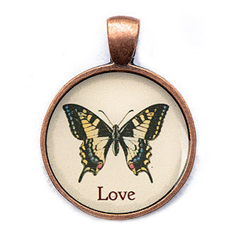 Love Pendant and Necklace - Copper Tone - Happiness in Your Life
