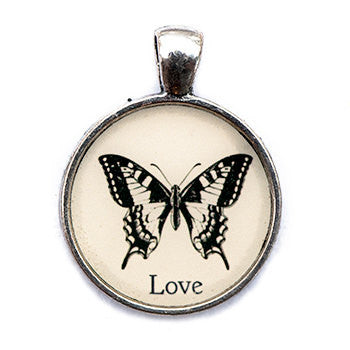 Love Pendant and Necklace - Silver Tone - Happiness in Your Life