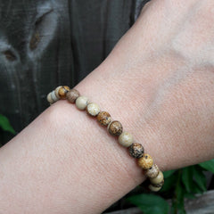 Picture Jasper Natural Stones Big Picture Bracelet