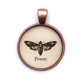 Power Pendant and Necklace - Copper Tone - Happiness in Your Life
