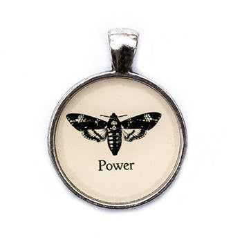 Power Pendant and Necklace - Silver Tone - Happiness in Your Life