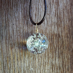 Sanctuary Pendant and Necklace - Queen Anne's Lace