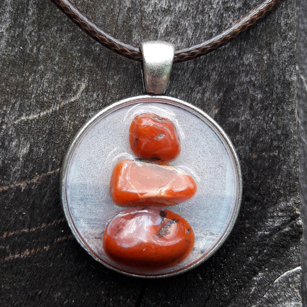 "Red Jasper Cairn ""Flow and Release"" Amulets by Doe Zantamata"