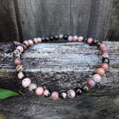 Rhodonite Natural Mini Stones  Forgiveness Bracelet