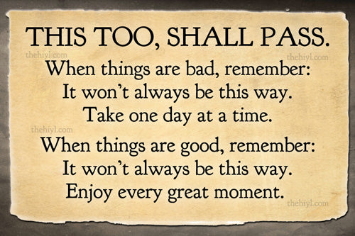 "This too, Shall Pass - Postcard Art Print 4""x6"""