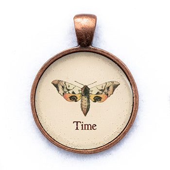 Time Pendant and Necklace - Copper Tone - Happiness in Your Life