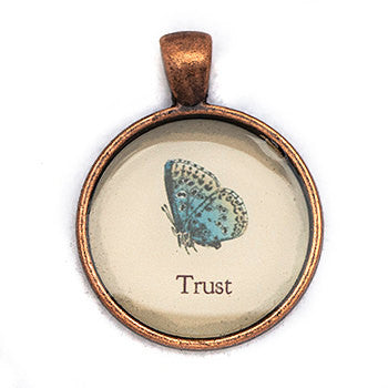 Trust Pendant and Necklace - Copper Tone - Happiness in Your Life