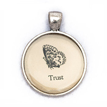 Trust Pendant and Necklace - Silver Tone - Happiness in Your Life
