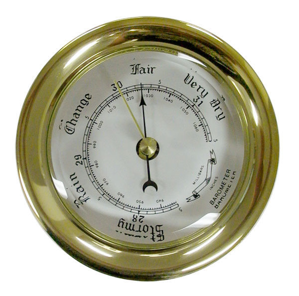 Ships Barometer 80mm Brass