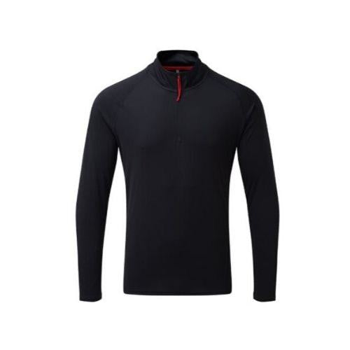 Gill Mens UV Tec Long Sleeve Zip Tee