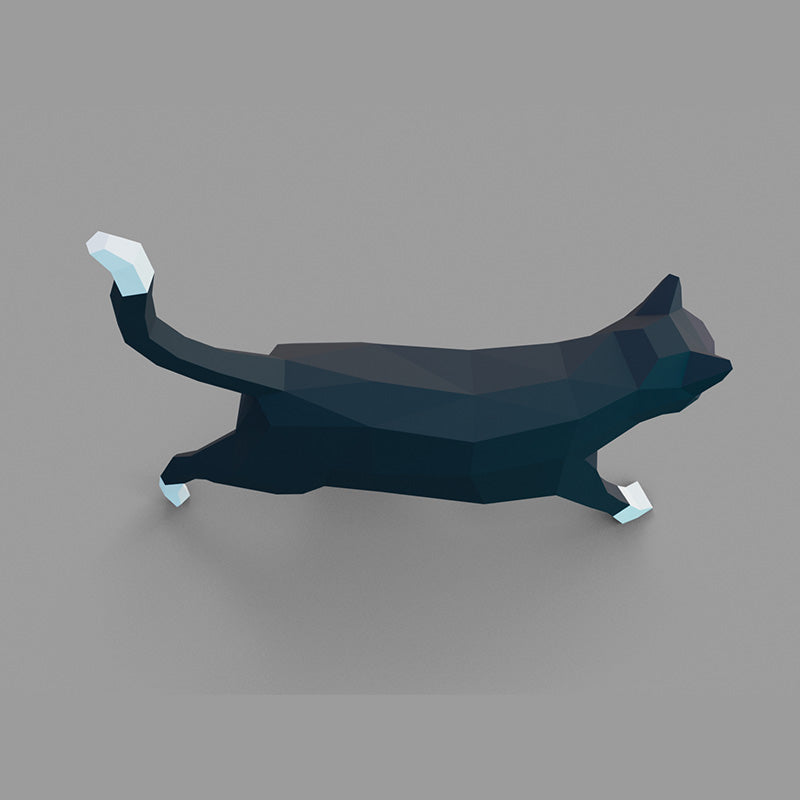 DIY Cat 3D Papercraft Template