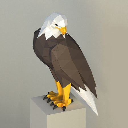 DIY Eagle 3D Papercraft Template