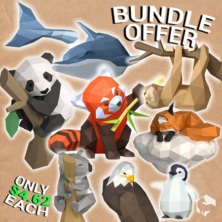 [BUNDLE] 8 x DIY 3D Papercraft Templates (PDF Kit) © GoPaperCraft