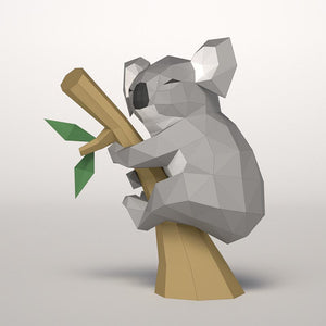 DIY little koala papercraft template download
