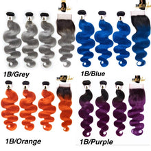 Load image into Gallery viewer, Color Hair-3 BUNDLES WITH FRONTAL or CLOSURE DEAL