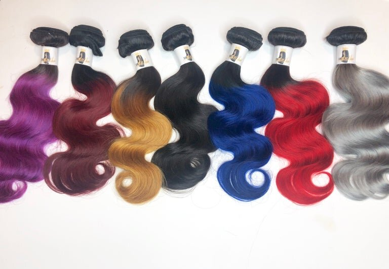 Color Hair-3 BUNDLES WITH FRONTAL or CLOSURE DEAL
