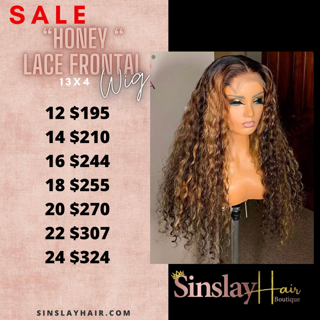 "Honey  "" lace frontal wig"