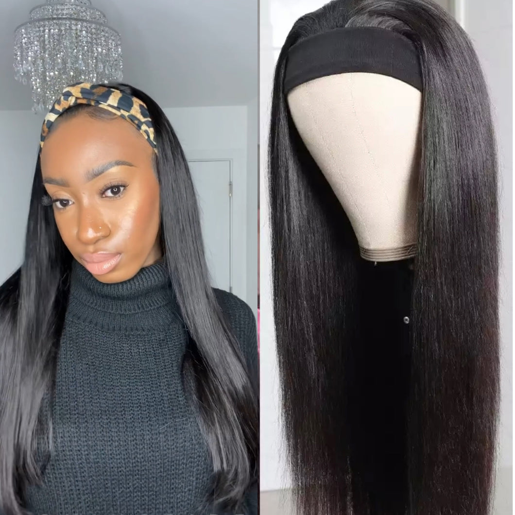 Straight Head Band Wig