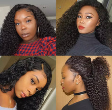 Load image into Gallery viewer, Mink Curly Lace Closure Wig