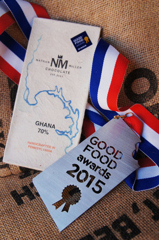 Ghana 70% single origin dark chocolate 2015 Good Food Award Winner