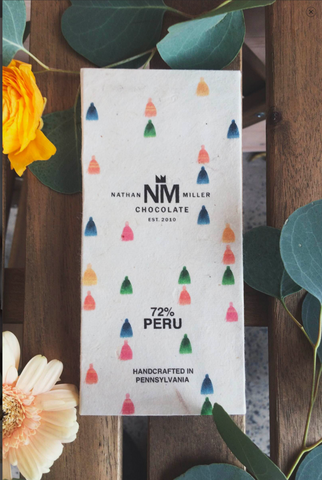 Peru 72% Nathan Miller Chocolate of Pennsylvania New York Times top bean to bar in December, 2015 article
