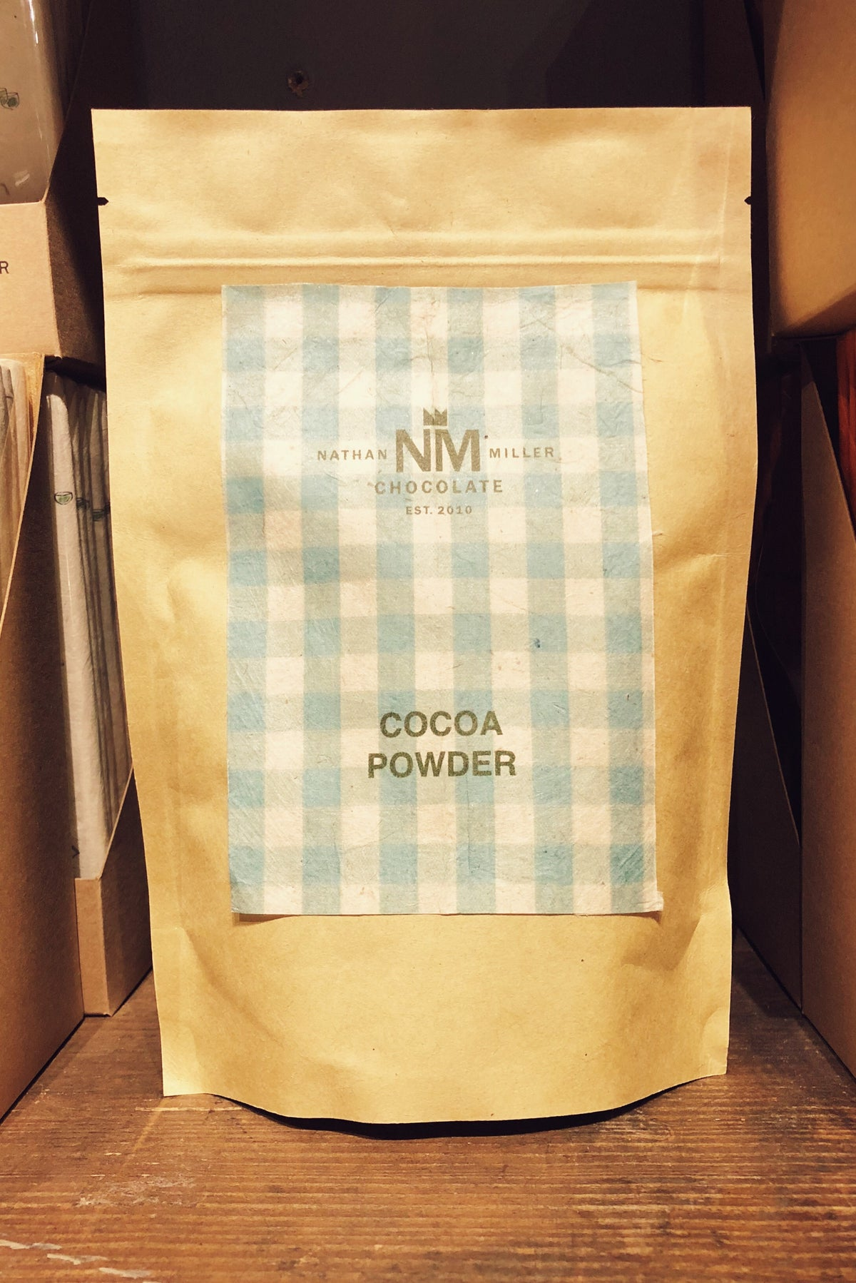 Organic Mexican Cocoa Powder from Nathan Miller Chocolate for home, chef, or barista use.