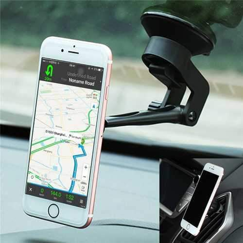 Bakeey 2 in 1 Magnetic Phone Holder Car Air Vent Holder Suction Bracket for iPhone 7P 7 Samsung