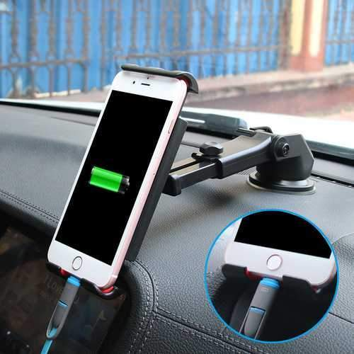 Bakeey Multifunctional Phone Stand Suction Cup Car Dashboard Car Phone Holder Bracket for Smartphone iPad GPS