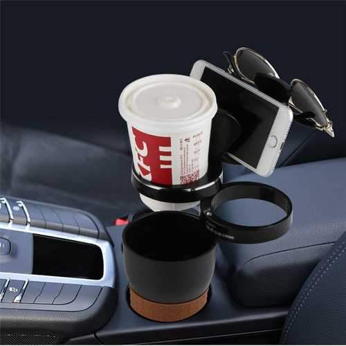 Multifunctional Adjustable Car Cup Holder Phone Stand Water Coffee Holder for iPhone Samsung Xiaomi