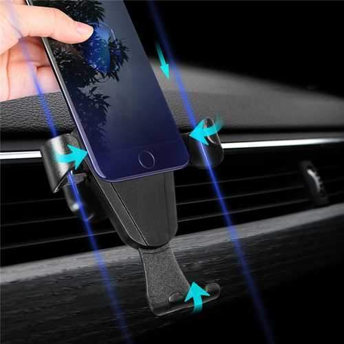Universal Gravity Car Air Vent Holder Outlet Phone Mount Bracket for Samsung iPhone X iPhone 8 Xiaomi